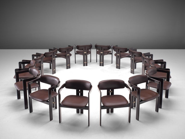 Mid-Century Modern Large Set of Sixteen Customizable 'Pamplona' Chairs by Augusto Savini For Sale
