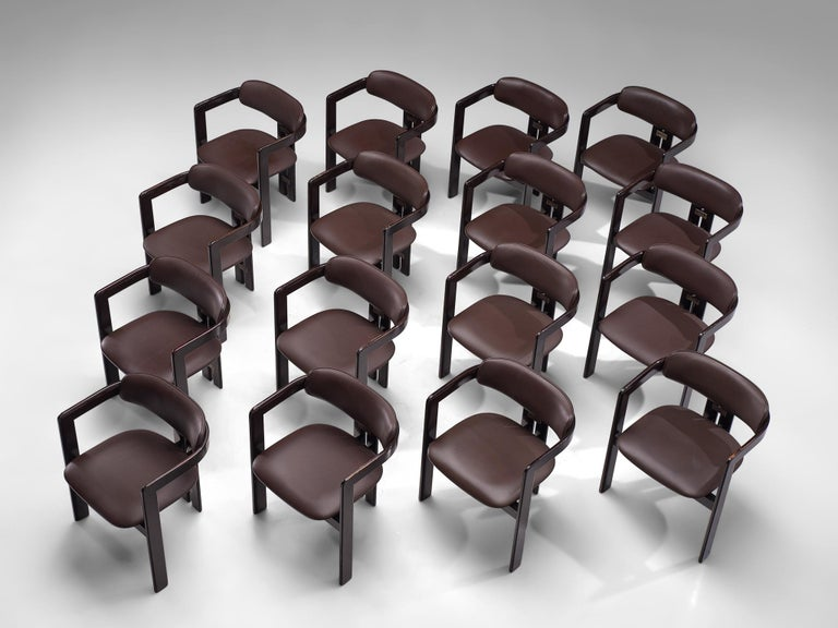 Italian Large Set of Sixteen Customizable 'Pamplona' Chairs by Augusto Savini For Sale