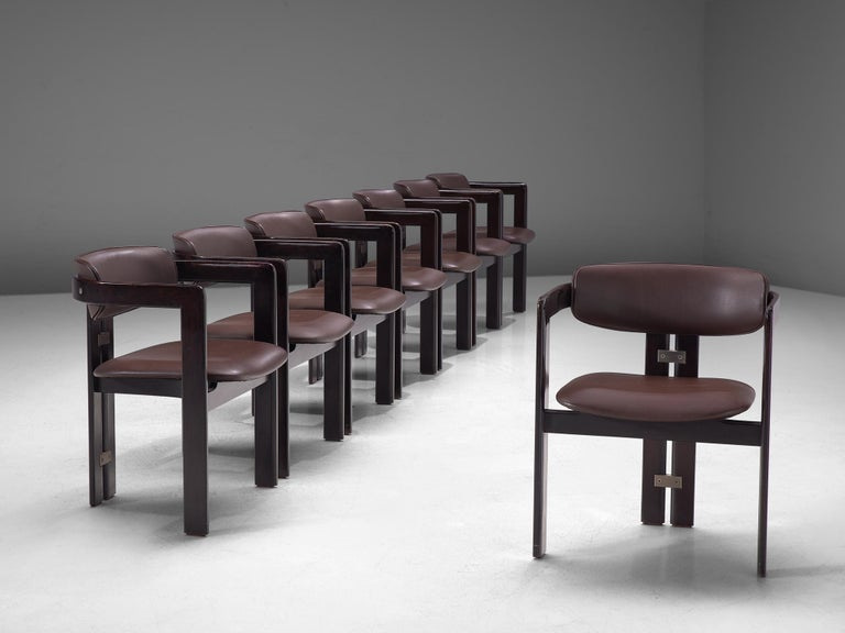 Mid-20th Century Large Set of Sixteen Customizable 'Pamplona' Chairs by Augusto Savini For Sale
