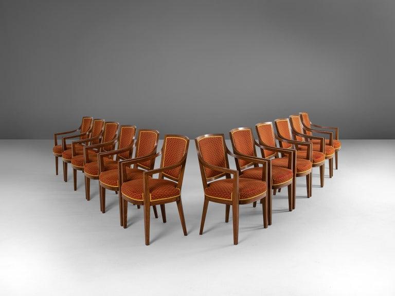 Mid-Century Modern Large Set of Twelve Danish Armchairs For Sale