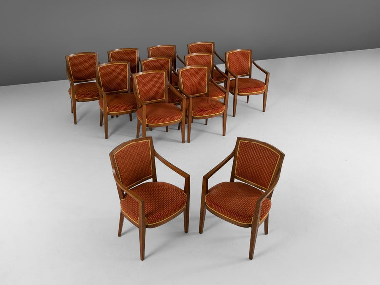European Large Set of Twelve Danish Armchairs For Sale
