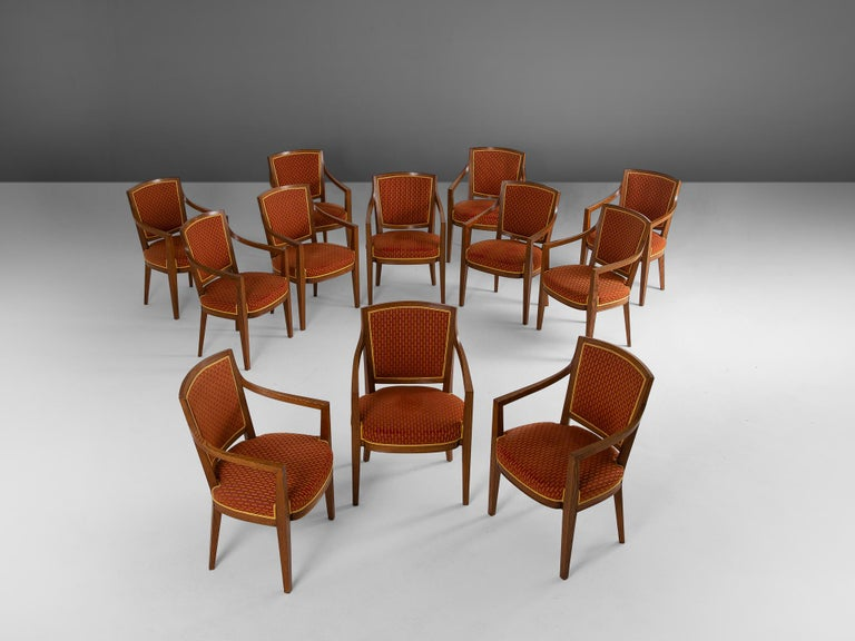 Large Set of Twelve Danish Armchairs In Good Condition For Sale In Waalwijk, NL