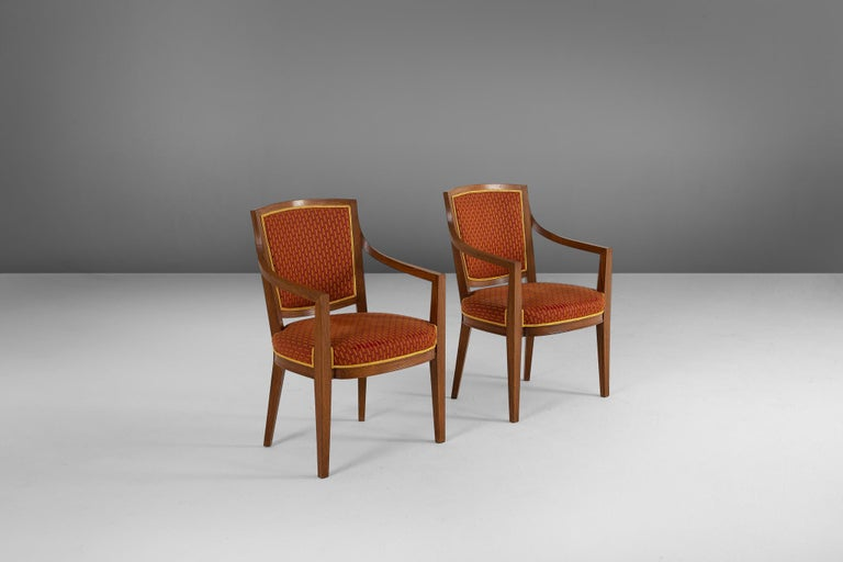 Fabric Large Set of Twelve Danish Armchairs For Sale