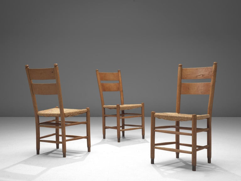 Mid-20th Century Large Set of Twenty-Four Danish Church Chairs For Sale