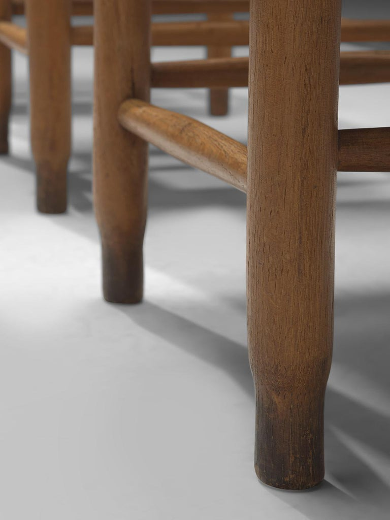Large Set of Twenty-Four Danish Church Chairs For Sale 3
