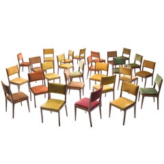 Large Set of Colorful Italian Dining Chairs