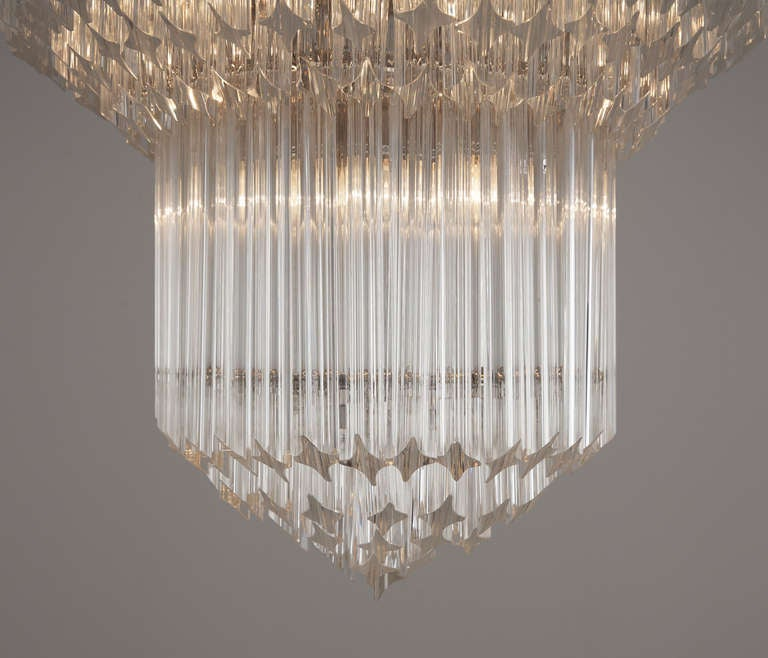 Italian Large Set of Venini Chandeliers For Sale