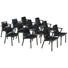 Large Set of 'Villabianca' Armchairs by Vico Magistretti for Cassina