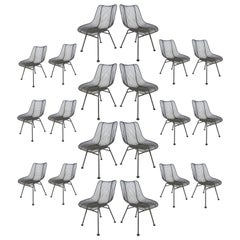 Large Set of 20 Vintage Russell Woodard Sculptura Chairs, Priced Individually