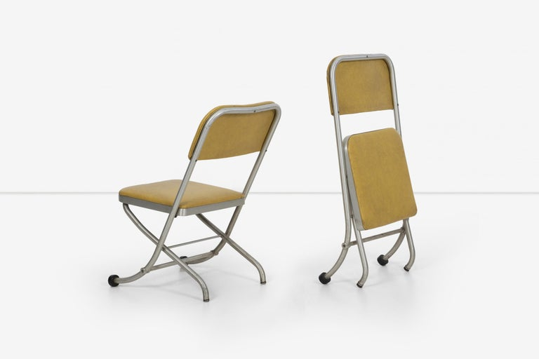 Machine Age Large Set of Warren McCarthur Chairs Aluminum Folding Chairs For Sale