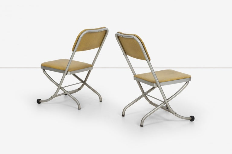 Large Set of Warren McCarthur Chairs Aluminum Folding Chairs For Sale 1