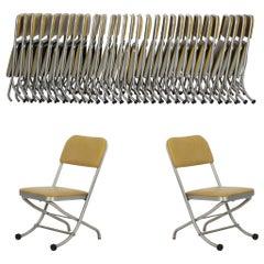 Large Set of Warren McCarthur Chairs Aluminum Folding Chairs