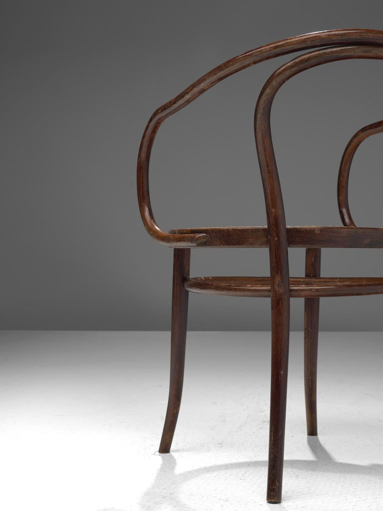 Large Set of Twenty Bentwood Armchairs by Ton, 1960s For Sale 8