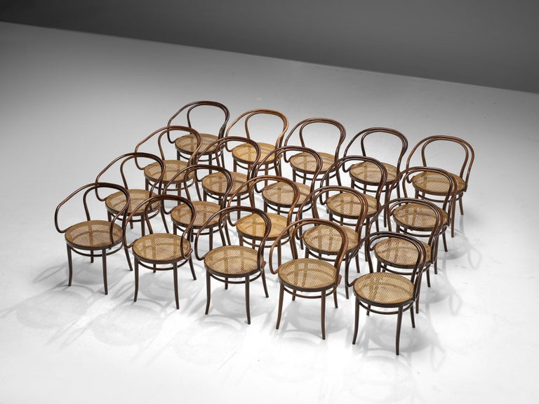 Czech Large Set of Twenty Bentwood Armchairs by Ton, 1960s For Sale