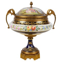 Large Sevres Style Lidded Comport, circa 1890