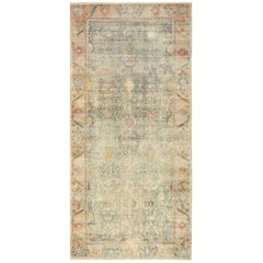 Large Shabby Chic Antique, 17th Century Persian Isfahan Rug