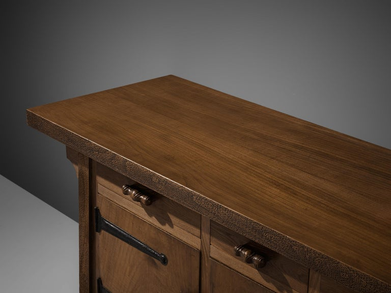 Large Sideboard by Ernesto Valabrega in Oak In Good Condition For Sale In Waalwijk, NL