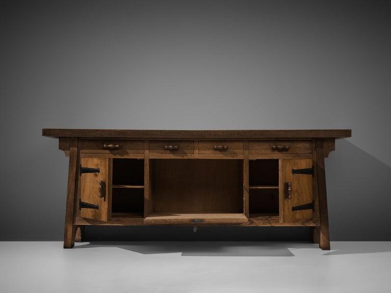 Large Sideboard by Ernesto Valabrega in Oak For Sale 1