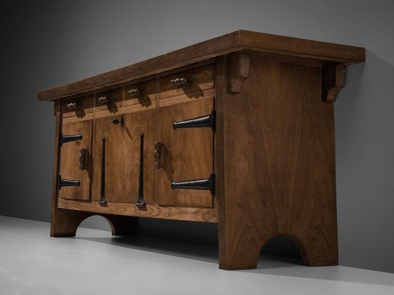 Large Sideboard by Ernesto Valabrega in Oak For Sale 2