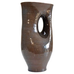 Large Signed Ceramic Vase by Antoine de Vinck, Belgium, 1950s