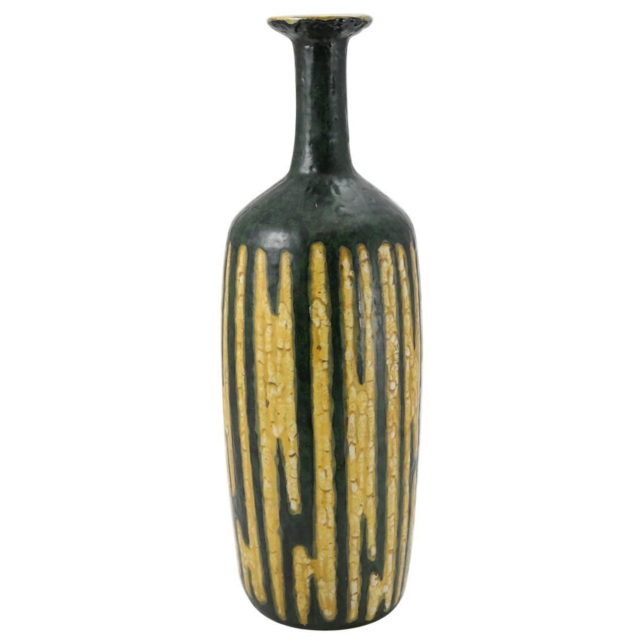 Large Signed Midcentury Ceramic Vase by Illes, 1970s