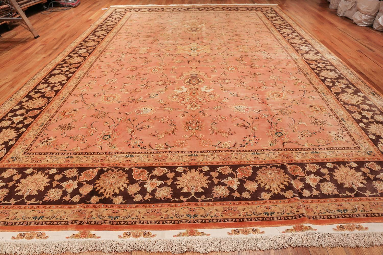 Wool Vintage Tabriz Persian Rug Size