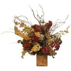 Large Silk Flower Arrangement in a Marble Base