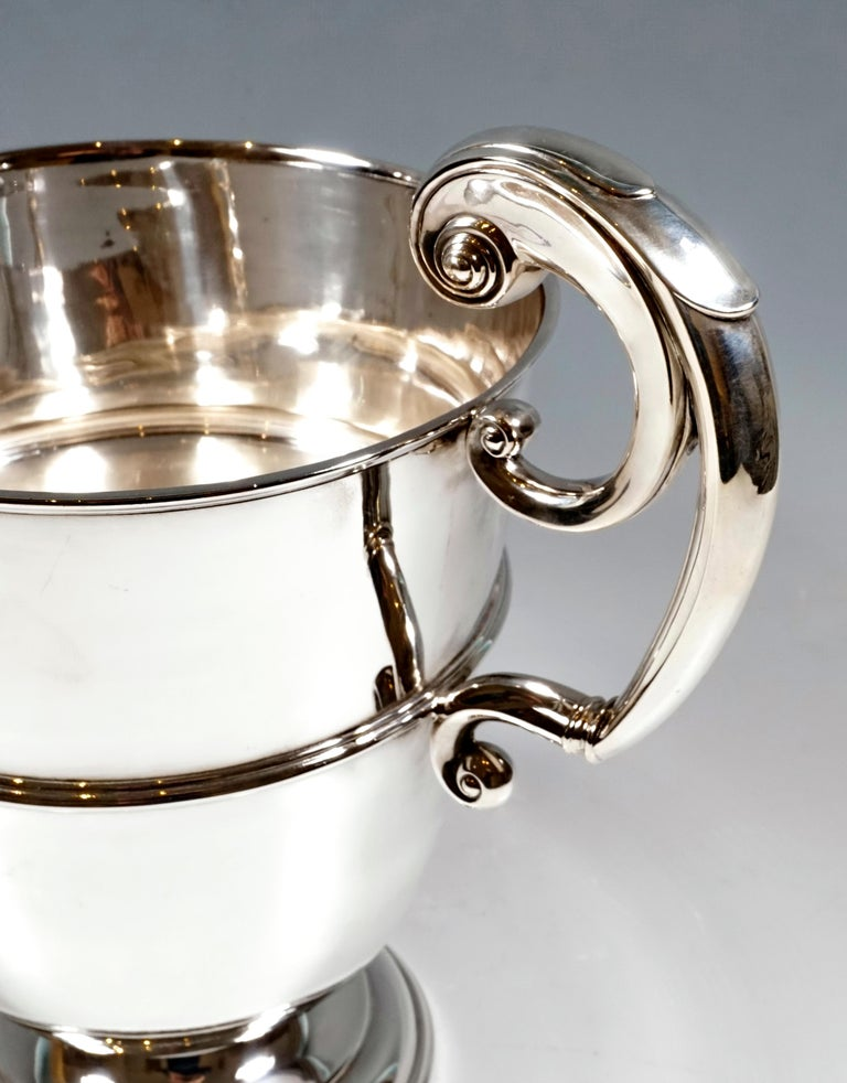 English Large Silver 925 Champagne Cooler by William Hutton & Sons, Birmingham 1925-1926 For Sale