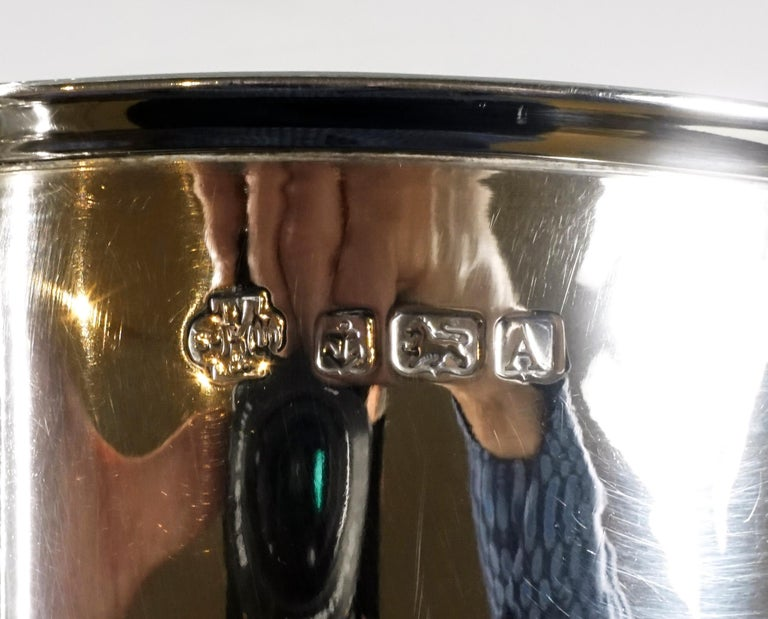 Early 20th Century Large Silver 925 Champagne Cooler by William Hutton & Sons, Birmingham 1925-1926 For Sale