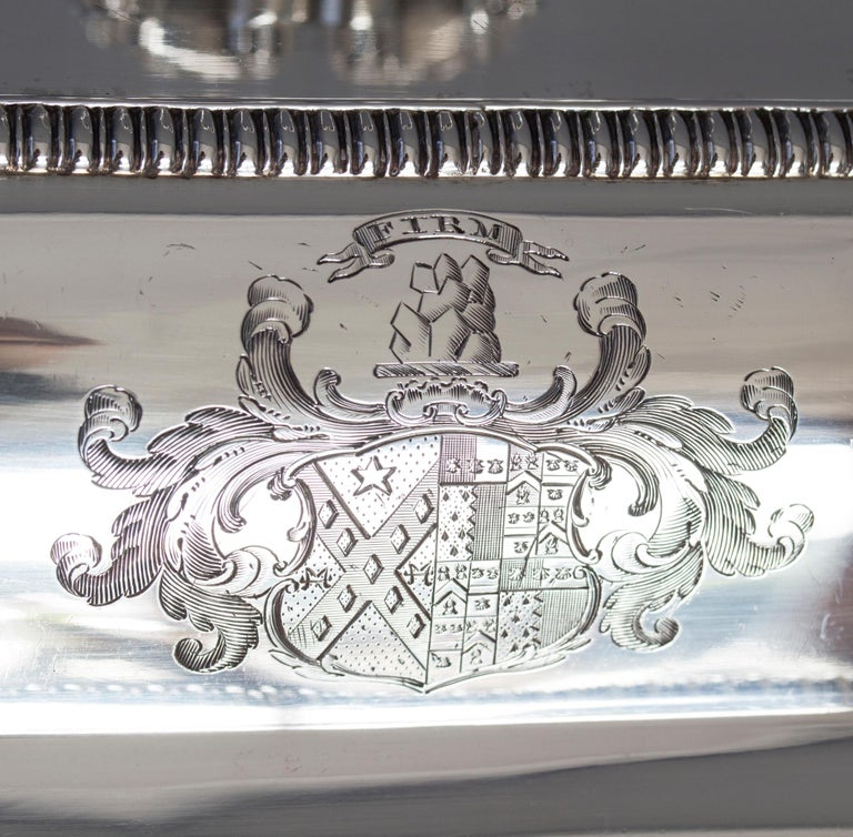 George III Large Silver Entree Dish with Warming Dish London 1814 For Sale