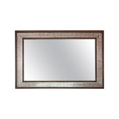 Large Silver Gilt Mahogany Wall Mirror