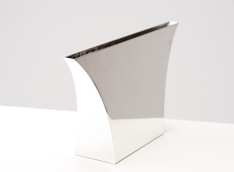Mid-Century Modern Large Silver Lino Sabattini Persepoli Vase For Sale