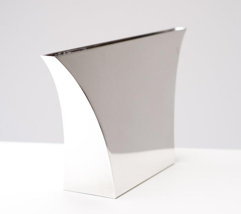 Mid-20th Century Large Silver Lino Sabattini Persepoli Vase For Sale