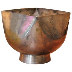 Large Silver Plate Bowl by Ward Bennett