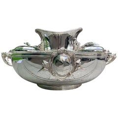 Large Silver Plated Russian Caviar Set, 20th Century