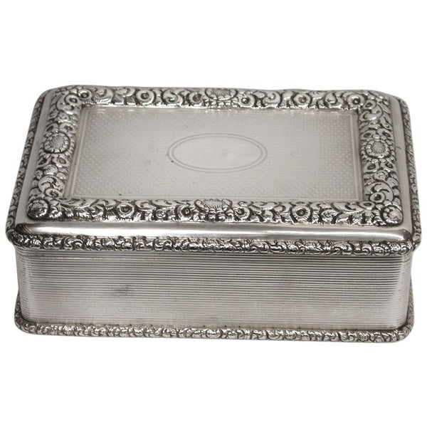 Large Silver Table Snuff Box, made by D & J Welby, London Assay, 1912