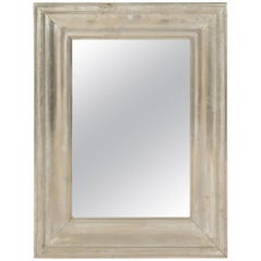 Large Silvered Metal framed Mirror