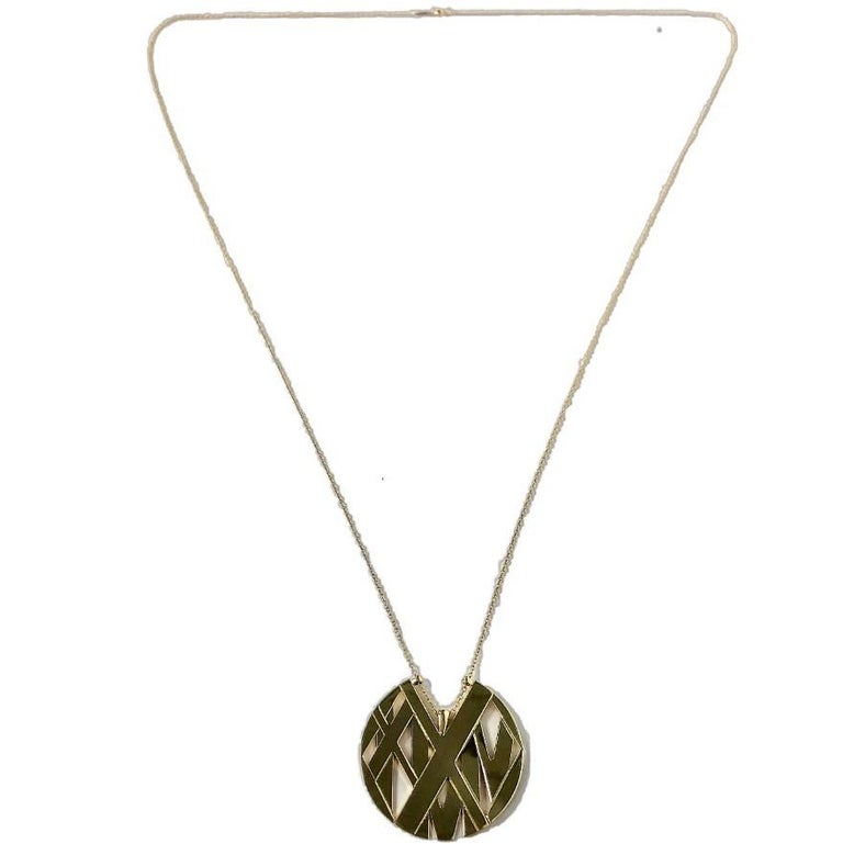 Large Size Tiffany & Co. 18K Yellow Gold Atlas Pendant Long In Good Condition For Sale In Palm Beach, FL