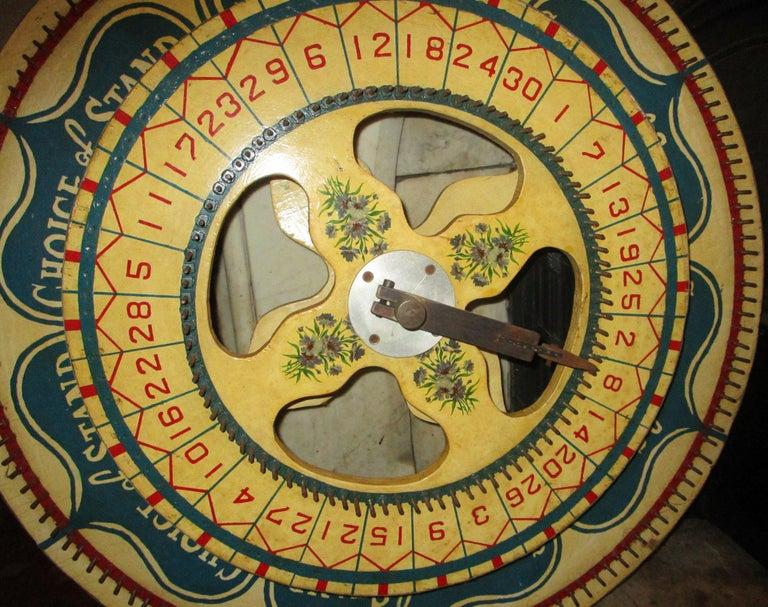 Folk Art Large Size American Carnival Double Gaming Wheel