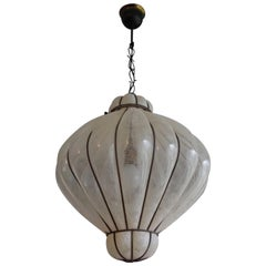 Large Size & Marvelous Shape Mouth Blown Midcentury Venetian Pendant Chandelier