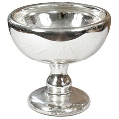 Large Size Mercury Glass Footed Bowl