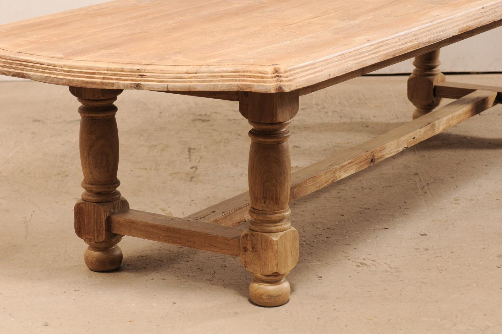 Enjoyable Large Sized Anglo Indian Light Teak Wood Dining Table Download Free Architecture Designs Grimeyleaguecom