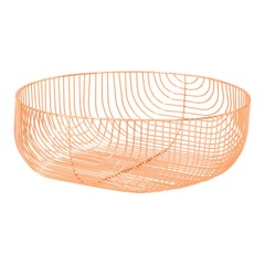 Large Sized Basket, Wire Design by Bend Goods, Copper