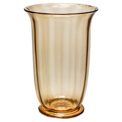 Large Soffiato Vase by Vittorio Zecchin for MVM Cappellin, circa 1925