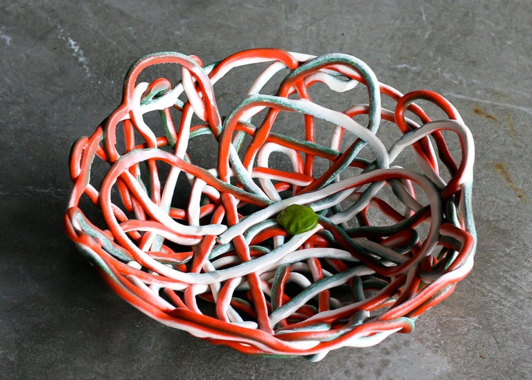 Large Soft Resin Basket by Gaetano Pesce, First Edition, Numbered In Excellent Condition For Sale In Dronten, NL
