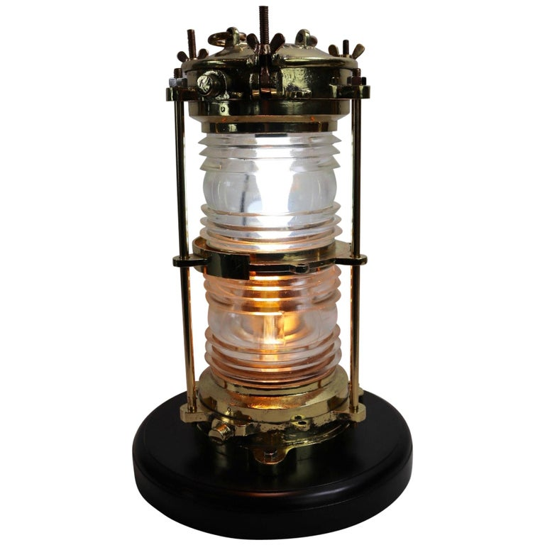 Large Solid Brass Marine Beacon For Sale
