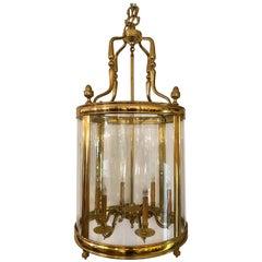 Large Solid Brass Neoclassic Hall Lantern