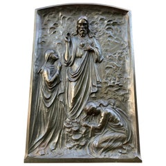 Large, Solid Bronze Wall Sculpture / Plaque, the Resurrection of Jesus Christ