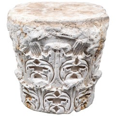Large, Solid, Carved Marble Capital