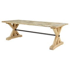 Large Solid Oak X Frame Dining Table